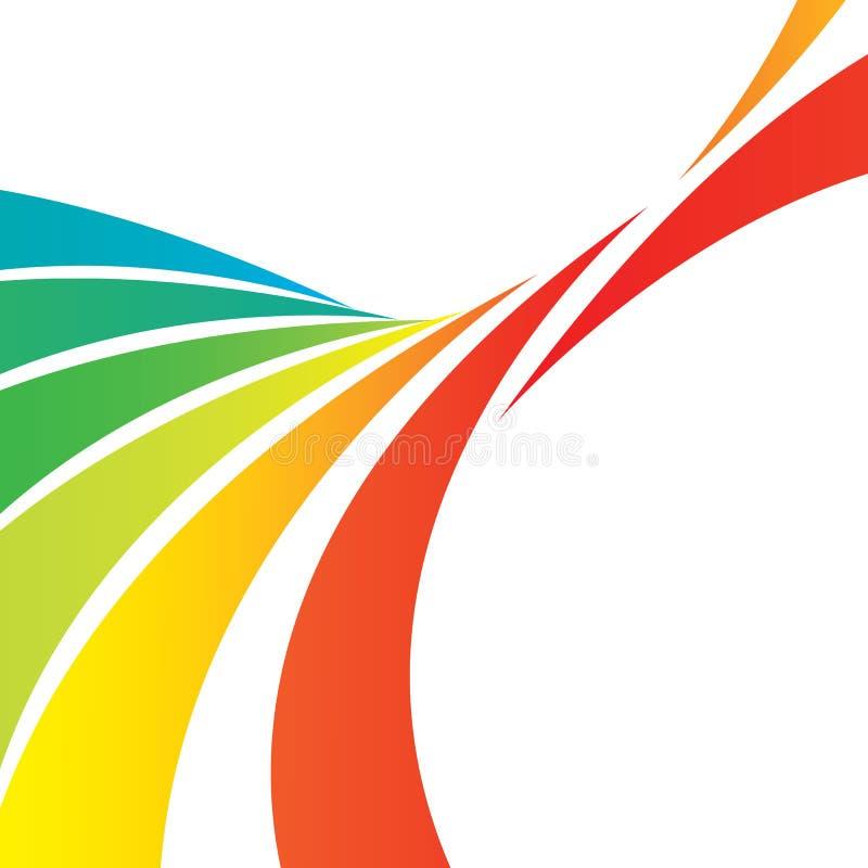 orienteringen lines swooshy vektor illustrationer
