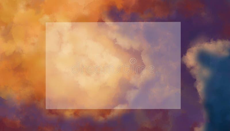 Orienteringshimmel och moln Den täckande lägenheten lägger royaltyfria foton