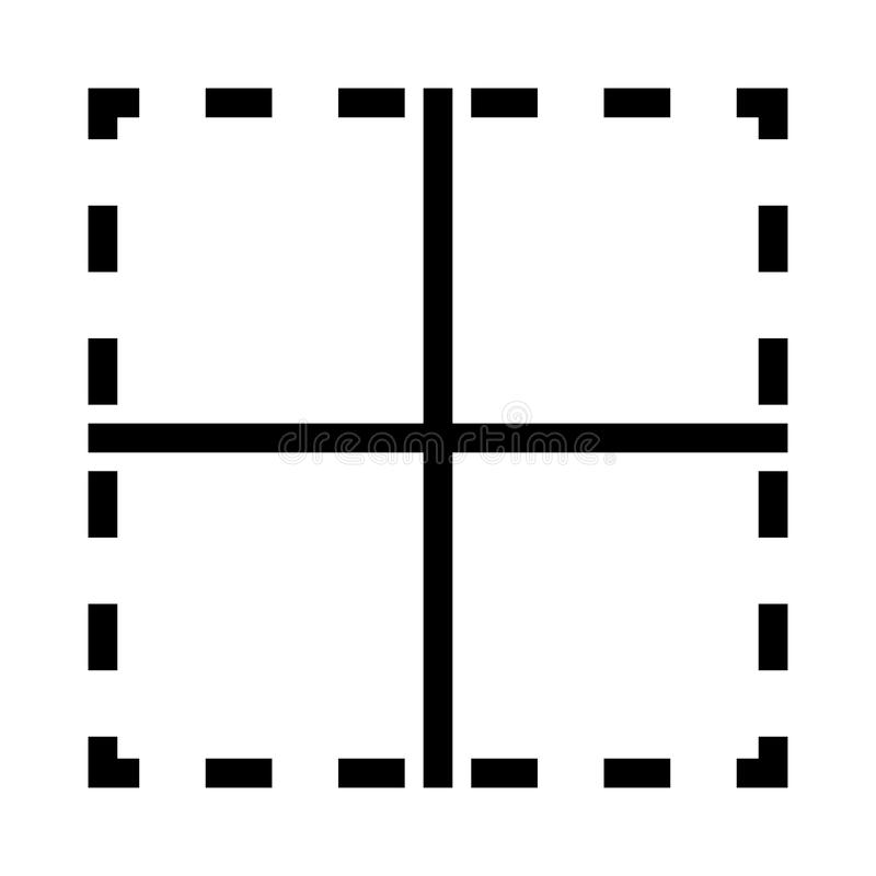 Orienteringsvektorlinje symbol vektor illustrationer