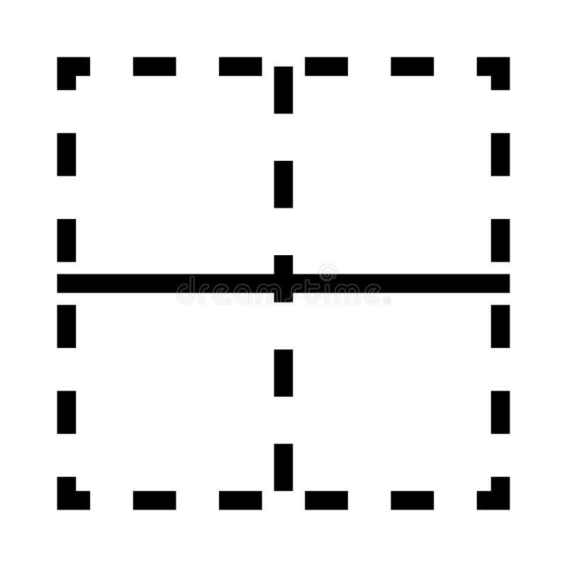 Orienteringsvektorlinje symbol royaltyfri illustrationer