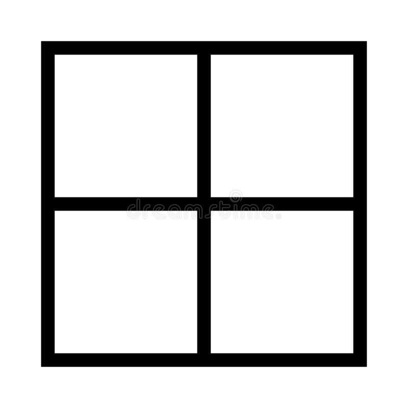 Orienteringsvektorlinje symbol stock illustrationer