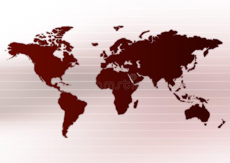 orienteringsworldmap stock illustrationer