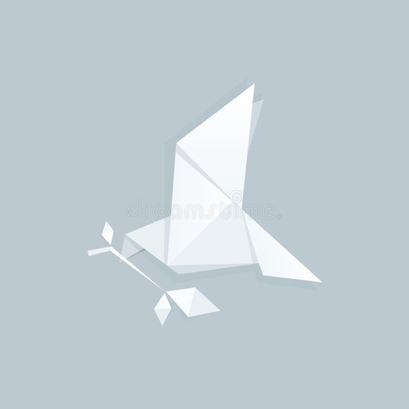 Origâmi de papel do pombo foto de stock royalty free