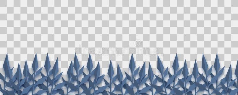 Origâmi escuro do papel da planta de Dia das Bruxas ilustração stock