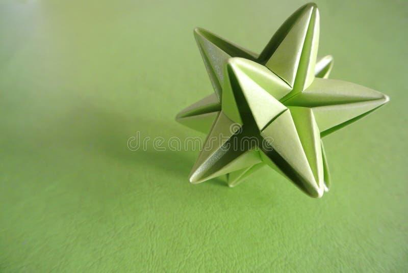 Origâmi verde da estrela imagem de stock