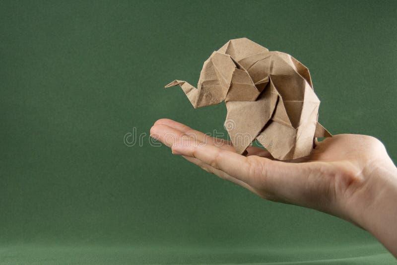 Origami婴孩大象 免版税库存图片