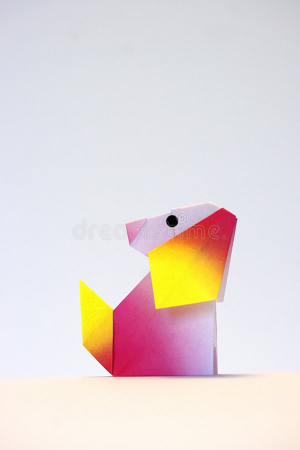 origami小狗 免版税库存图片