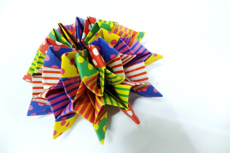 Origami数学-松包或海星 免版税库存照片