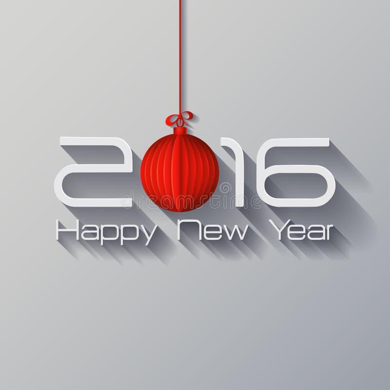 2016年Origami新年快乐Origami圣诞快乐球 库存例证