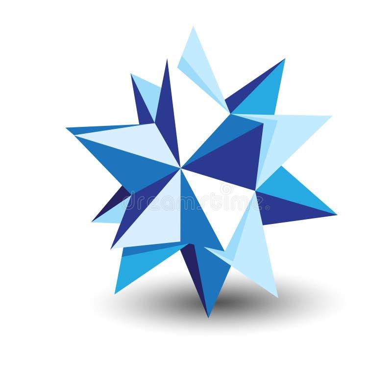 Origami星形 向量例证