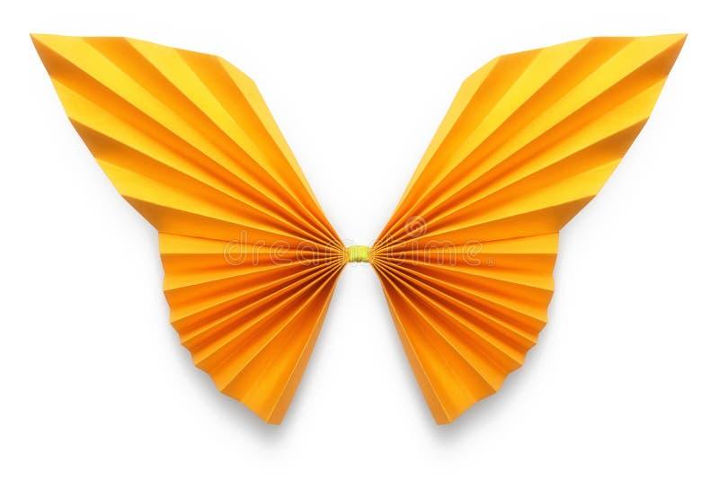 origami橙色蝴蝶  库存照片