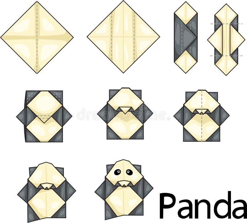 Origami熊猫 库存例证