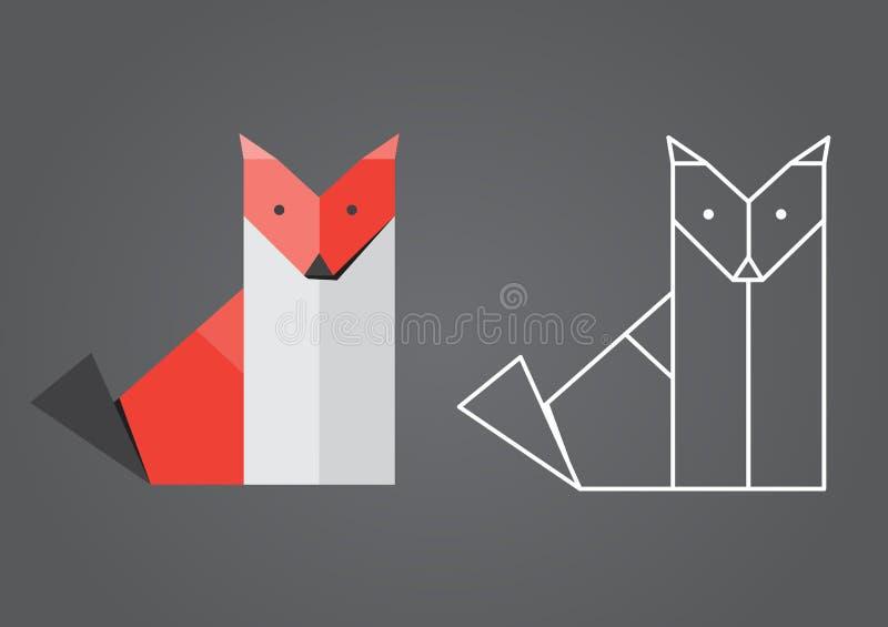 Origami狐狸 免版税库存图片