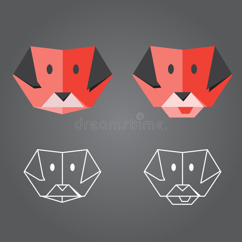 Origami狗 库存图片