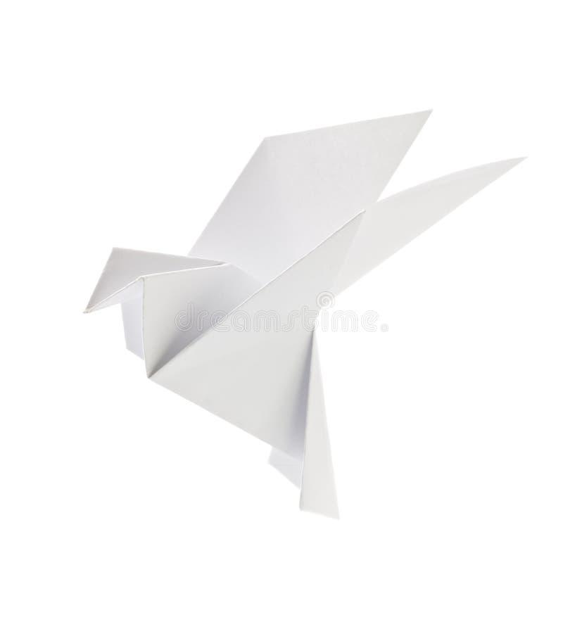 origami白色鸽子  免版税库存照片