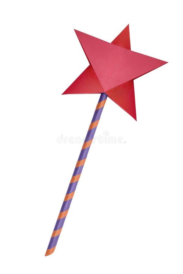 Origami纸星魔术鞭子 免版税图库摄影