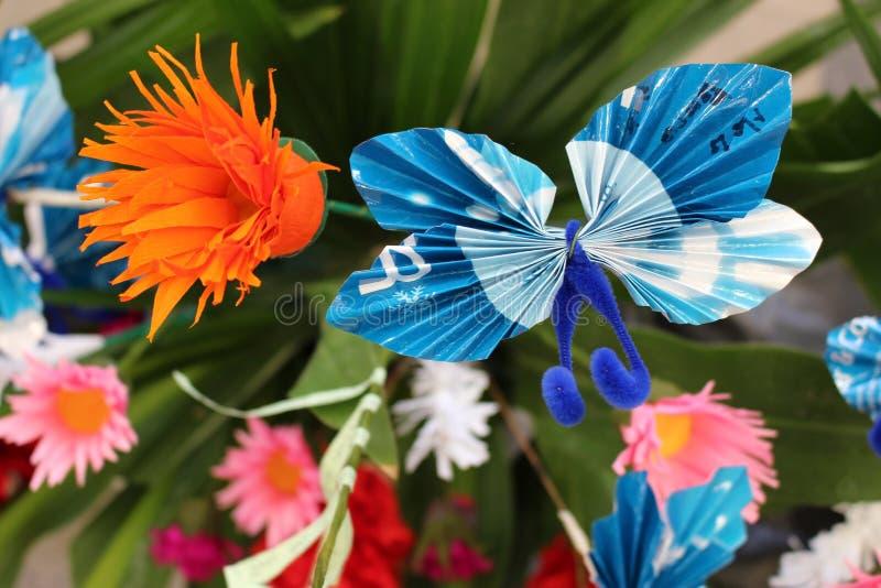 Origami纸蝴蝶 图库摄影