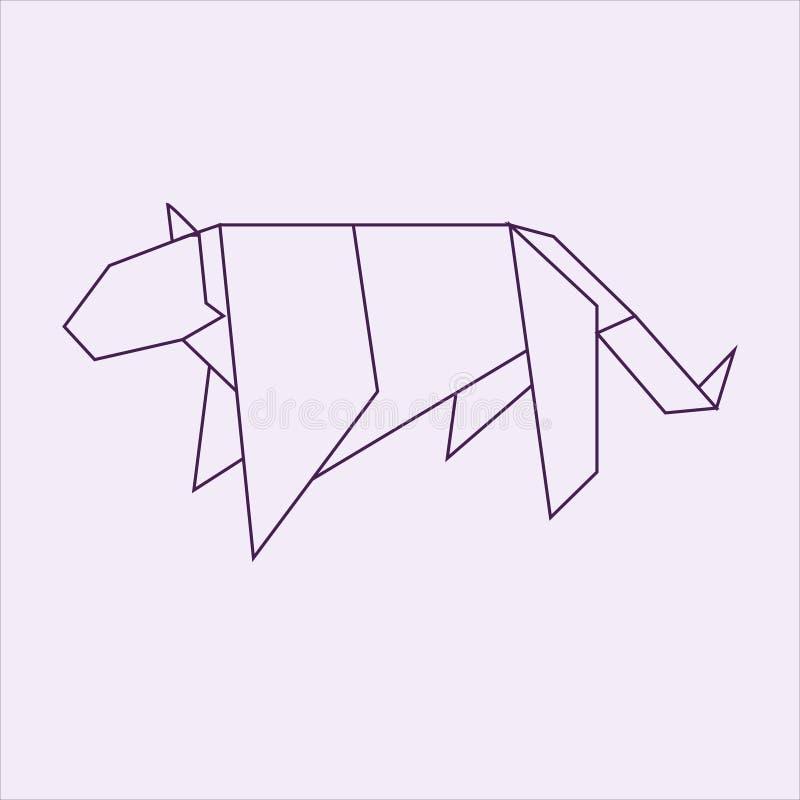 Origami美洲狮 向量例证