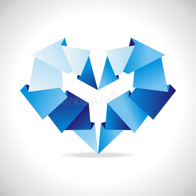 Origami重点 皇族释放例证