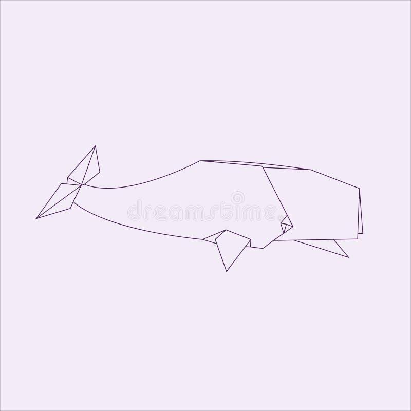 Origami鲸鱼 皇族释放例证