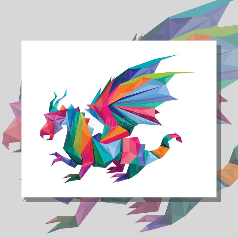 Origami龙 库存例证