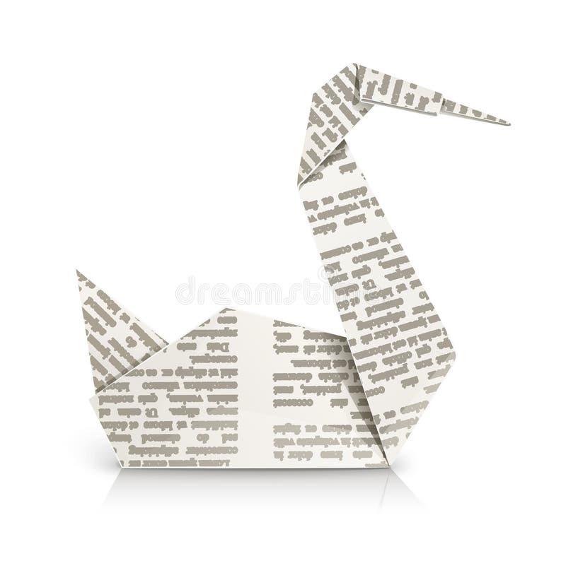 origami łabędź zabawka royalty ilustracja