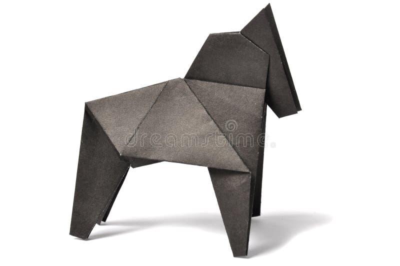 origami αλόγων πέρα από το λευκό στοκ φωτογραφία με δικαίωμα ελεύθερης χρήσης