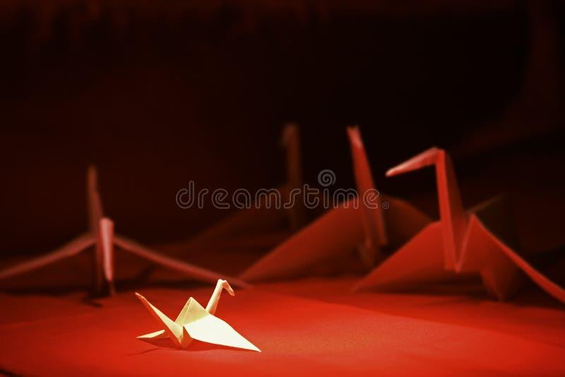 origami γερανών στοκ εικόνα με δικαίωμα ελεύθερης χρήσης