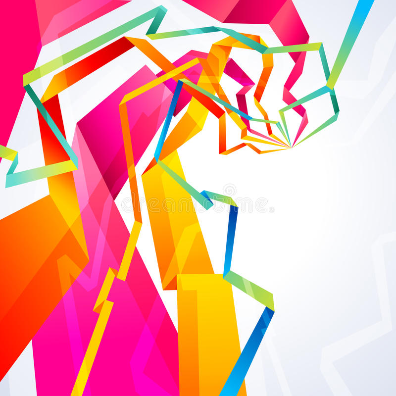 origami γραμμών ελεύθερη απεικόνιση δικαιώματος