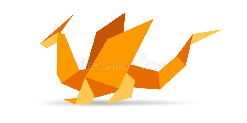 origami дракона иллюстрация вектора