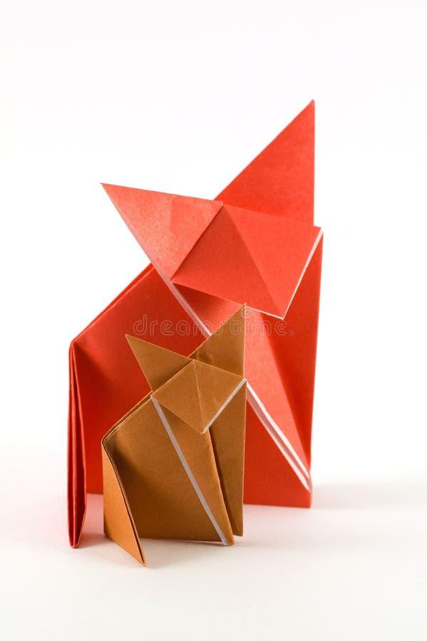 origami лисицы стоковые изображения