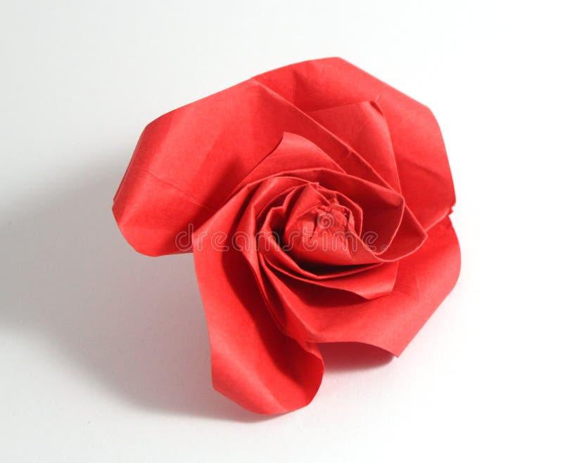 Origami подняло стоковые фотографии rf