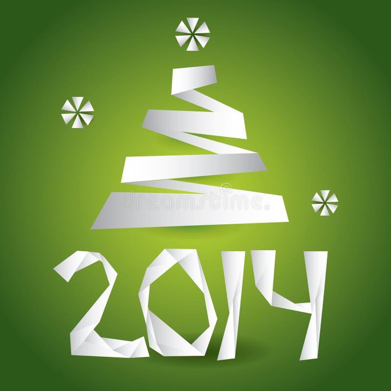 Download Origami рождественской открытки вектора Иллюстрация вектора - иллюстрации насчитывающей традиционно, форма: 33727849