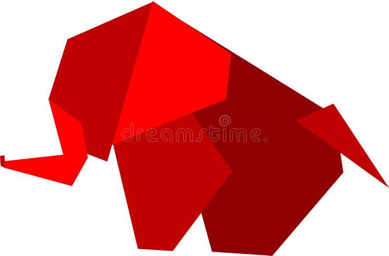 origami слона иллюстрация штока
