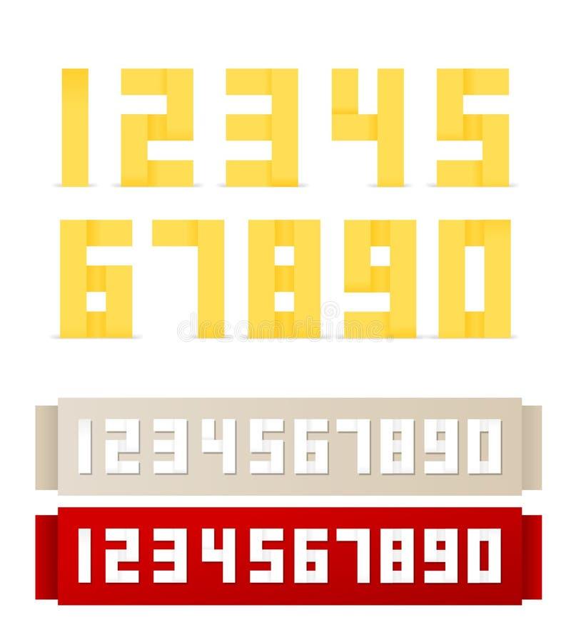 origami чисел иллюстрация штока
