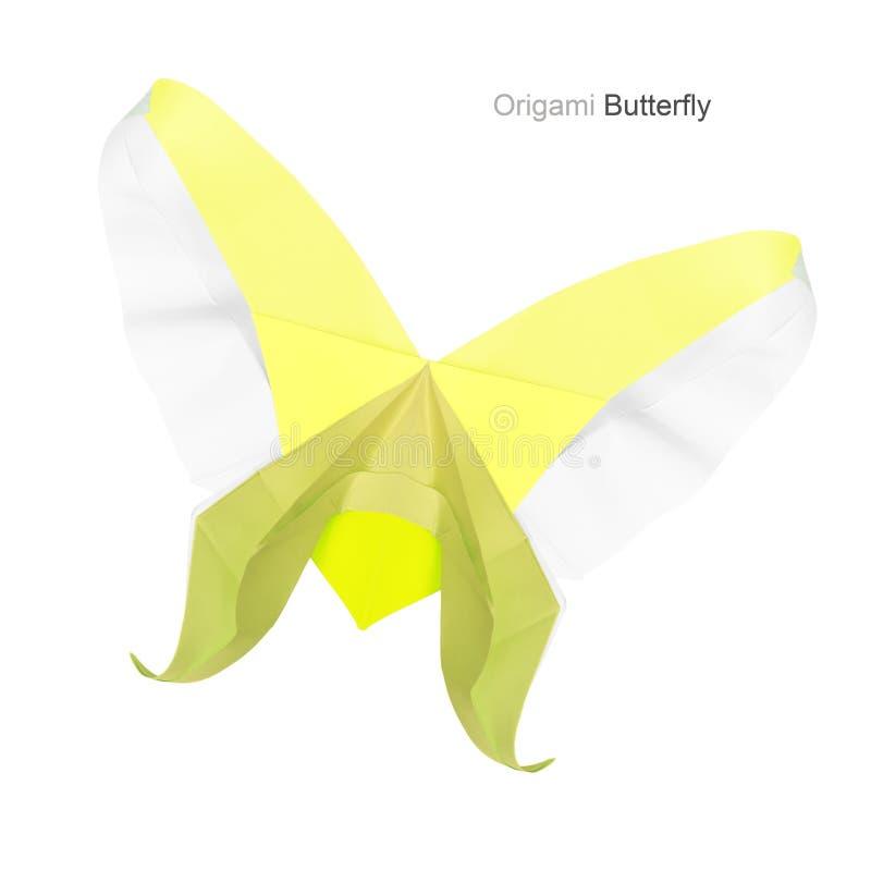 Origami黄色蝴蝶 库存照片