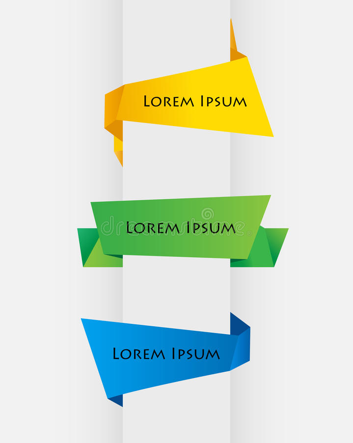 Origami illustration libre de droits