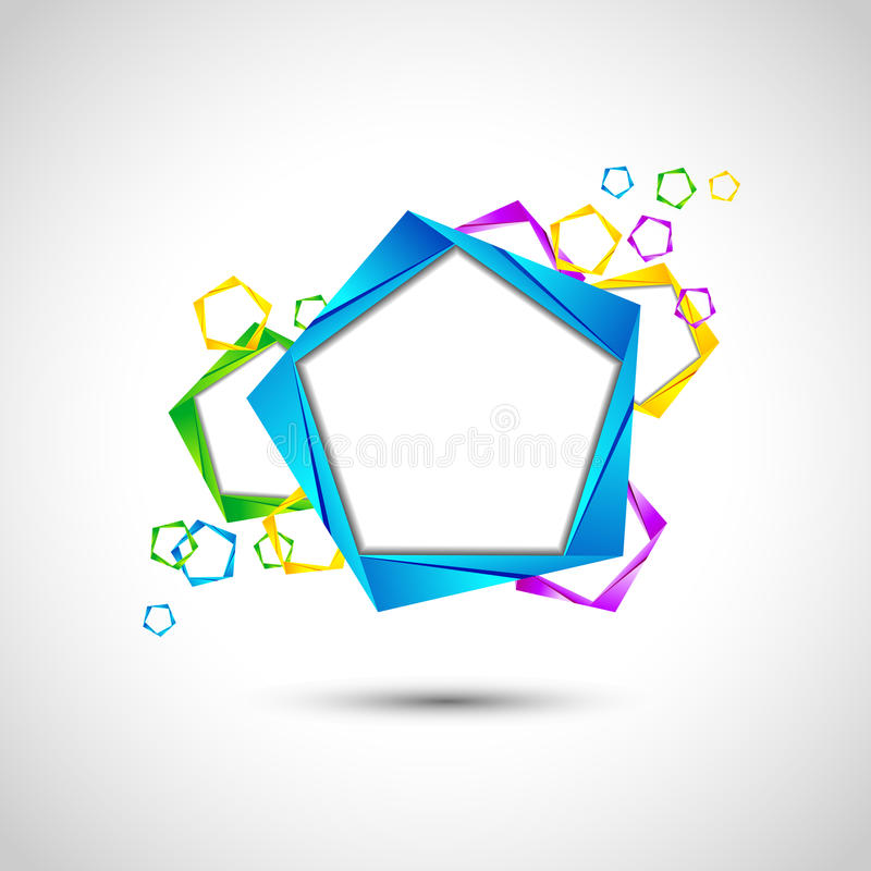 Origami Abstract Background stock illustration