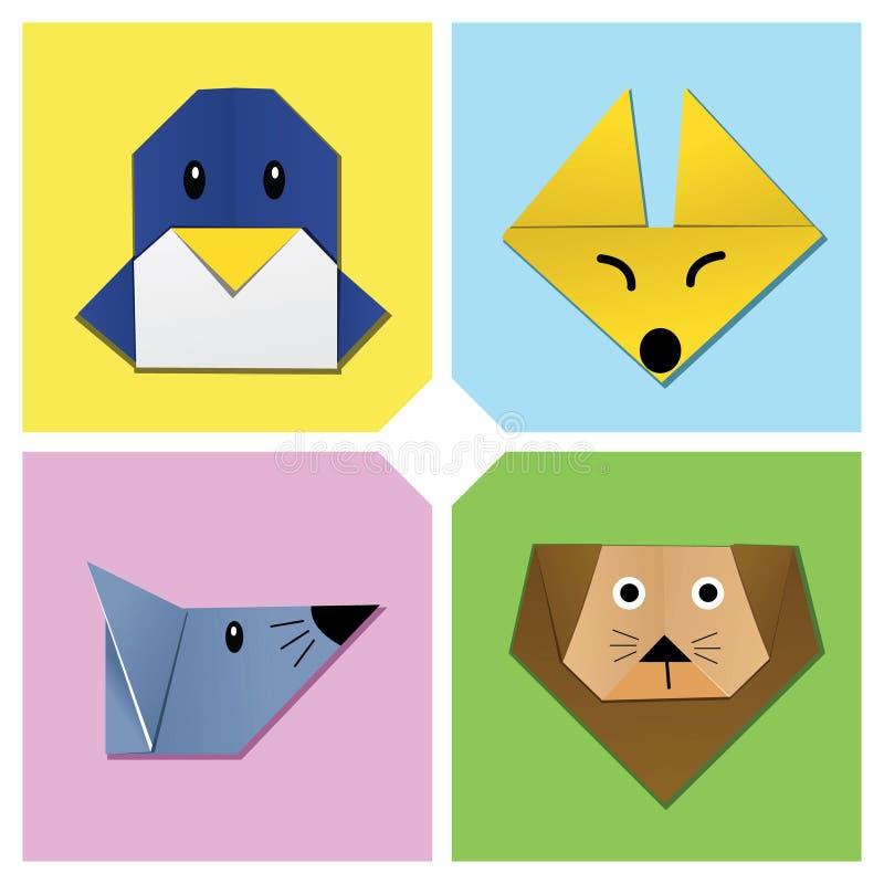 Origami Animal Head 2 vector illustration