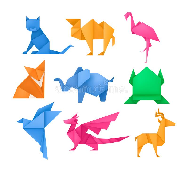 Dinosaur origami - Dinosaur - Collections | 734x800