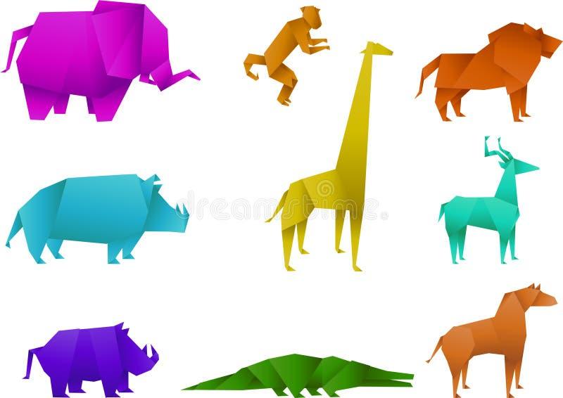 Origami animals royalty free illustration