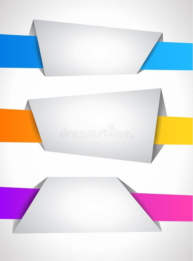 Origami Artsprache Fahne stock abbildung