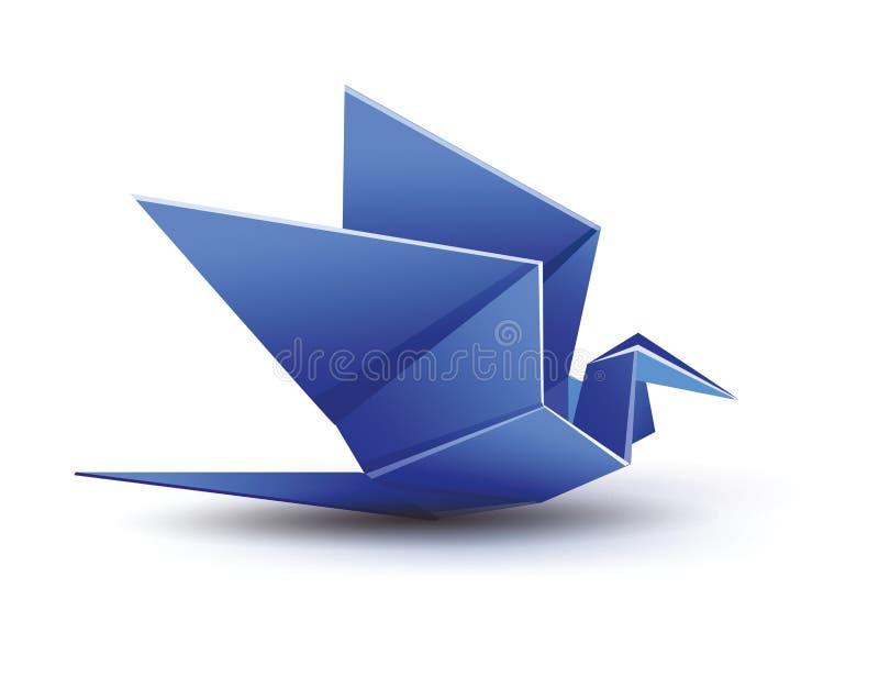 Origami błękitny Żuraw ilustracji