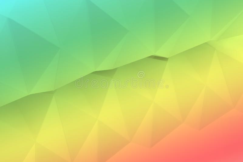 Origami background reflected in mirror in rainbow colors stock illustration