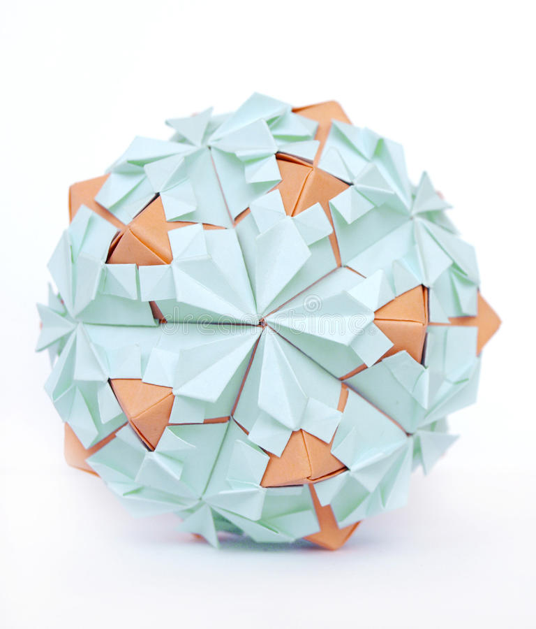 Origami ball stock images
