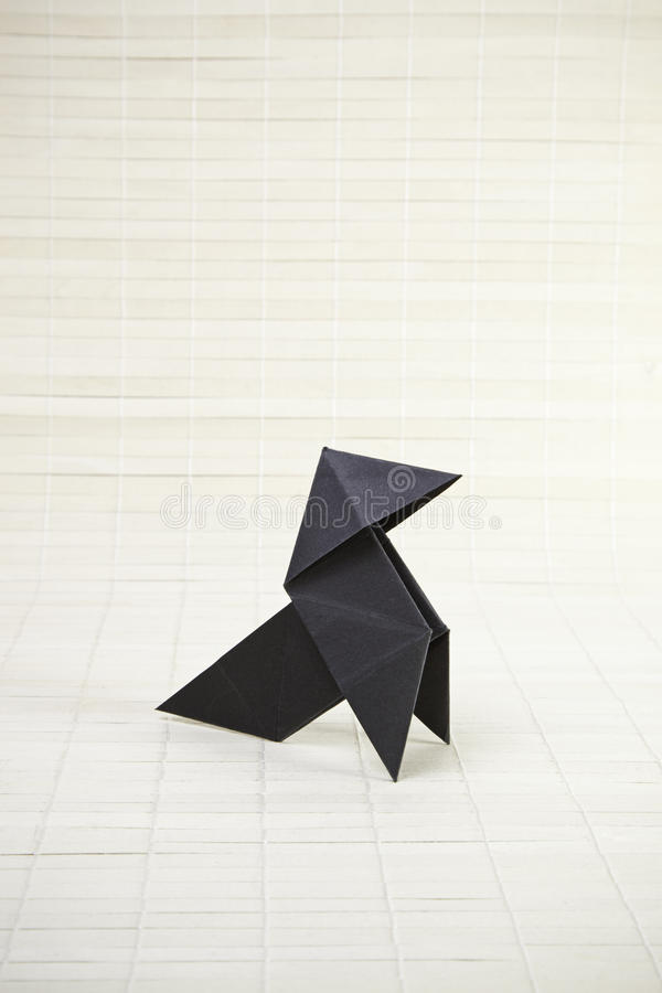 Origami and bamboo stock image