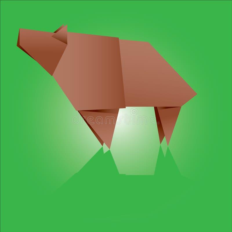 Origami Bear royalty free illustration