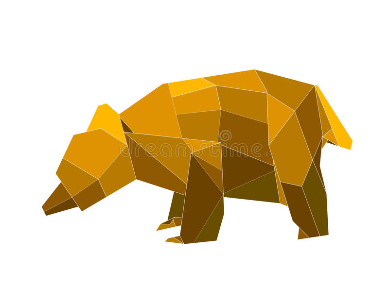 Download Origami Bear Stock Illustration Of Folding