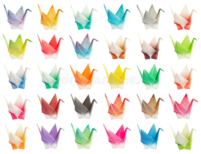 Download Origami birds chart stock image. Image of folding, craft - 8441783