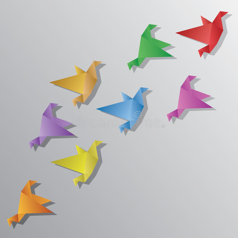 Origami Birds. Vector illustration of Origami Birds royalty free illustration